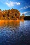 Sweeney Lake Northwoods Wisconsin. Beautiful foliage along the shoreline of Sweeney Lake in northwoods Wisconsin royalty free stock images