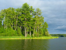 Sweeney Lake - Wisconsin. Evening view of Sweeney Lake in the beautiful northwoods of Wisconsin Stock Image