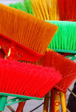 Sweep. Some colourfull sweep in a market in Sichuan Royalty Free Stock Image