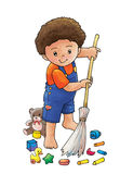 Sweep the floor stock illustration
