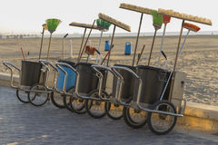 Sweeper carts. Royalty Free Stock Images
