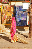 Sweeper in Jaisalmer Royalty Free Stock Image