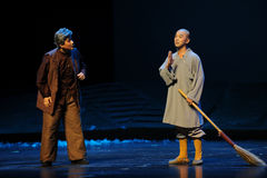 Sweeper monk- Jiangxi opera a steelyard. Jiangxi opera a steelyard is adapted from a true story: the last century fortys, the protagonists father runs an oil Stock Image