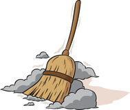 Sweeping Broom Stock Image
