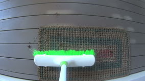 Sweeping Broom POV Stock Images
