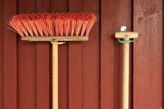 Sweeping brush Stock Photo