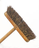 Sweeping brush. On a white background Royalty Free Stock Image