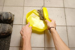 Sweeping dirt Stock Photography