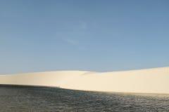 Sweeping dunes and lagoons in Lencois Maranhenses. Brasil Stock Image