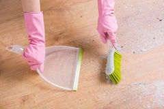 Sweeping the dust royalty free stock images