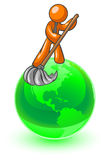 Sweeping the globe Royalty Free Stock Photography