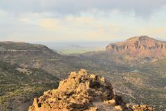 Sweeping landscape of desert landscape, Santa Fe Stock Photography