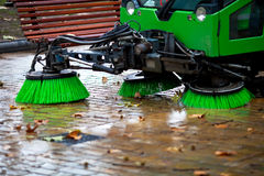 Sweeping machine Royalty Free Stock Photography