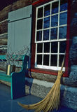 Sweeping porch. A kept up cabin porch Royalty Free Stock Photo