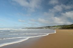 Woolacombe Bay on the Bristol Channel, North Devon Royalty Free Stock Photography