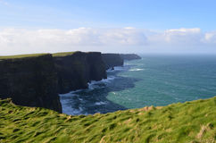 Sweeping Scenic Views of the Cliff`s of Moher Royalty Free Stock Photo