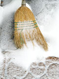 Sweeping Snow Royalty Free Stock Photo
