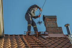 Sweeps the chimney Royalty Free Stock Image