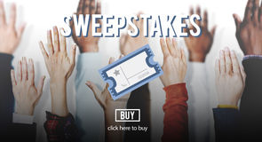 Sweepstakes Chance Betting Gambling Lottery Win Concept Stock Image