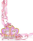 Sweet 16 Birthday invitation border Royalty Free Stock Images