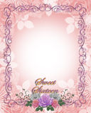 Sweet 16 Birthday invitation Roses royalty free stock images