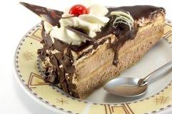Sweet. Chocolate dessert with cherry Royalty Free Stock Photo