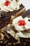 Sweet. Chocolate dessert with cherry Royalty Free Stock Images