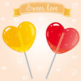 Sweet. Illustration of candy in the form of a heart Royalty Free Stock Photos
