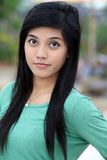 Sweet adorable asian woman Stock Photos