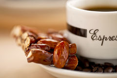 Sweet almond and coffee Royalty Free Stock Image