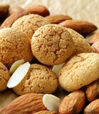 Sweet almond cookies biscuits Stock Photo