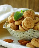 Sweet almond cookies biscuits (amaretti) Stock Photos