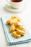Sweet almond cookies. Royalty Free Stock Photos