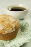 Sweet almond muffin Royalty Free Stock Image