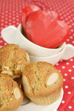 Sweet almond muffins Stock Images