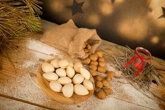 Sweet almonds Royalty Free Stock Photo