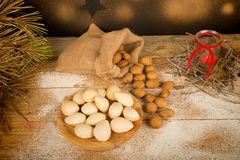 Sweet almonds Stock Images