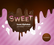 Sweet alphabet Royalty Free Stock Photography