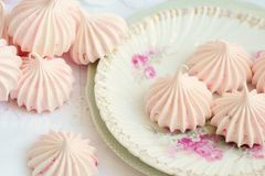 Free Sweet And Pink Mini French Meringues On A Plate Royalty Free Stock Photo - 168632285