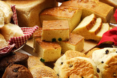 Sweet And Savoury Baked Goods Royalty Free Stock Images
