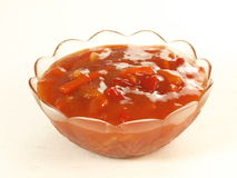 Sweet And Sour Sauce, Isolated Stock Photo