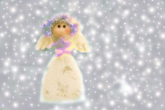 Sweet angel of Christmas Royalty Free Stock Photos
