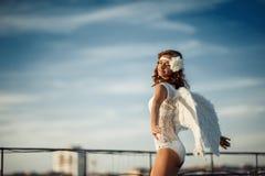 Sweet angel girl Stock Photography