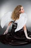Sweet angel sitting Stock Photography