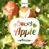 Sweet apple on blur background Royalty Free Stock Image