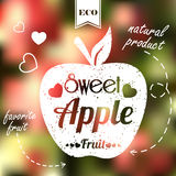 Sweet apple on blur background Stock Photography