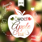 Sweet apple on blur background Stock Images