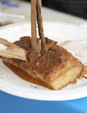 Sweet apple with cinnamon, torta di mele  Royalty Free Stock Images