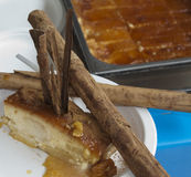 Sweet apple with cinnamon, torta di mele Stock Image