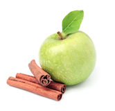 Sweet apple with cinnamon Royalty Free Stock Images